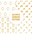 Happy Halloween set of seamless patterns with vector image