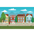 House buildings street home background Houses and vector image