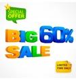 Big sale inscription 60 vector image vector image