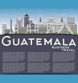 guatemala skyline with gray buildings blue sky vector image