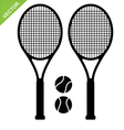 Tennis racket silhouettes vector image