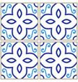 tiles pattern spanish or portuguese tile design vector image