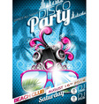 Disco Party Flyer Design with speakers vector image vector image