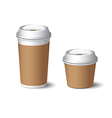 White Paper Cup 2 vector image