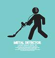 Metal Detector Black Graphic Symbol vector image