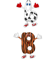 Cartoon alphabet B vector image