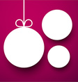 White paper round holiday labels vector image