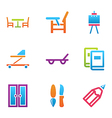 home stuff icon set vector image vector image