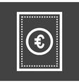 Euro Bill vector image