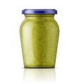 Glass jar with pesto sauce vector image