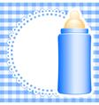Baby bottle vector image