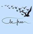 be free text flying birds vector image