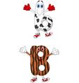 Cartoon alphabet B vector image