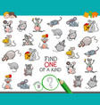 find one of a kind with mouse characters vector image