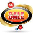 Modern sale badge with gold frame vector image