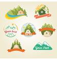 mountain house vector image