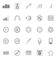 Music line icons on white background vector image