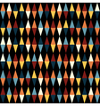 Retro geometric seamless pattern with triangles vector image