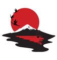 miniature symbolizing Japan vector image vector image