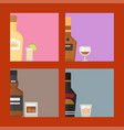 alcohol drinks beverages cocktail card drink vector image