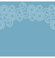 Seamless white border on blue background vector image vector image