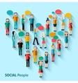 People pixel avatars vector image vector image