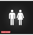 man and woman simple pictogram vector image