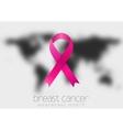 Breast cancer awareness pink ribbon and black vector image