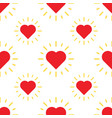 love hearts pattern with ray vector image