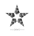metal star with arrows on white background vector image
