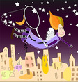 night fairy in the city vector image