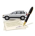 Paperwork for car vector image