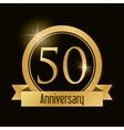 50 Year Celebrating Anniversary graphic vector image