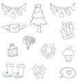 Hand draw object christmas of doodle vector image