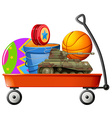 Wagon full of toys vector image
