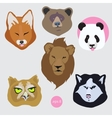 Stickers set of images of bored tired vector image