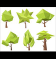 the different conceptual green trees with the vector image vector image