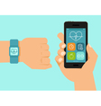 fitness tracker vector image vector image