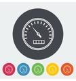 Speedometer flat icon vector image vector image