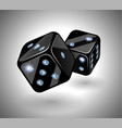 black dices with diamonds vector image