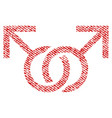 gay love symbol fabric textured icon vector image