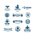 Gym fitness symbols set vector image