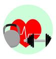 health sport app icon vector image