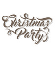 inscription christmas party vector image