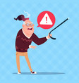 senior man error message modern grandfather vector image
