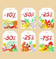 set with autumn sale labels vector image