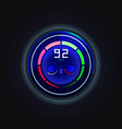 speedometer for electric car with battery charge vector image