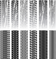 tyre prints vector image