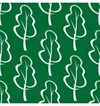 Seamless pattern of stylized trees vector image