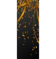 falling gold confetti on black stripe vector image vector image